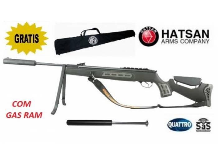 Carabina de Pressão Carabina Hatsan 125 Sniper 5.5mm SAS + Gas Ram 75kg  Instalado + Capa + Bipe 165ff86e1b