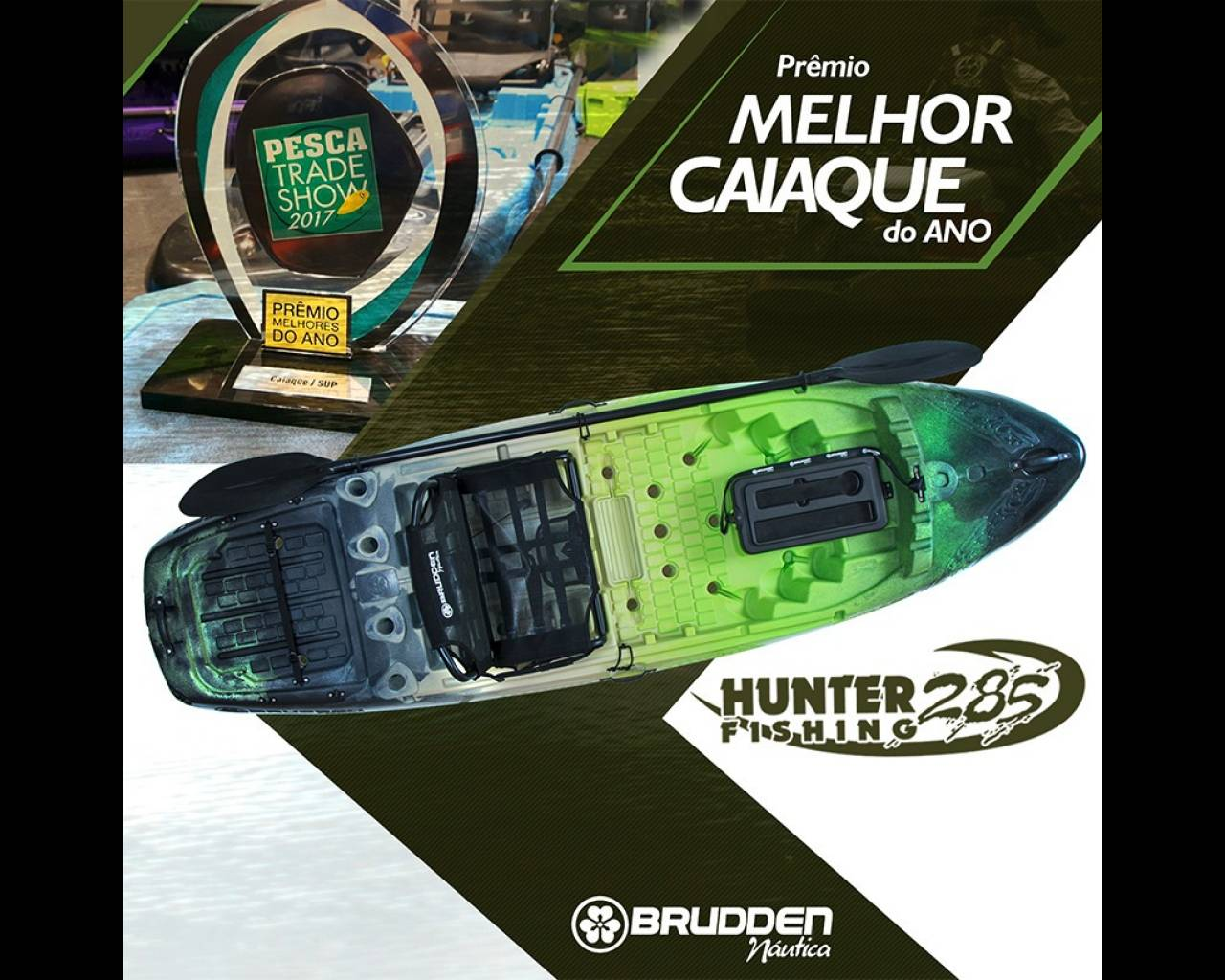 f388c4580 Caiaque Hunter Fishing 285 Brudden Náutica com Cooler